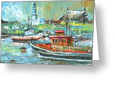 Howth Harbour 01 Greeting Card