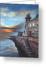 Howth Harbour Lighthouse Greeting Card