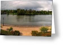 Hoyt Lake At Delaware Park Greeting Card