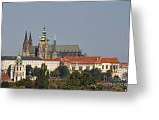 Hradcany - Cathedral Of St Vitus On The Prague Castle Greeting Card