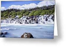 Hraunfossar Iceland Greeting Card