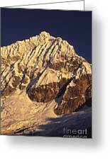 Mt Huandoy Sunrise Cordillera Blanca Greeting Card