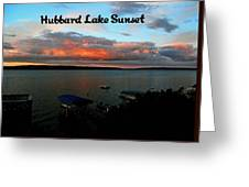 Hubbard Lake Greeting Card