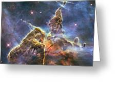 Hubble's Fantasy Mountaintops  Greeting Card by Barry Jones