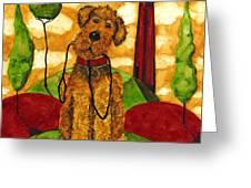 Hubbs Art Folk Prints Whimsical Animals Dog Pet Walk Italy Tuscany Country Greeting Card