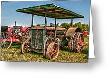 Huber Tractor Greeting Card