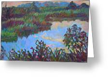 Huckleberry Line Trail Rain Pond Greeting Card