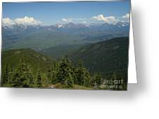 View Of The Rockies From Huckleberry Mountain Glacier National Park Greeting Card