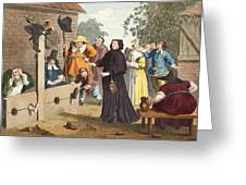 Hudibras And Ralpho In The Stocks Greeting Card