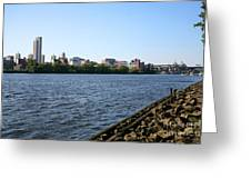 Hudson River And Albany Skyline Greeting Card