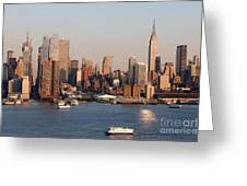 Hudson River And Manhattan Skyline I Greeting Card