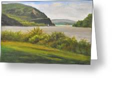 Hudson River At Cold Spring Greeting Card