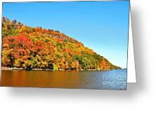 Hudson River Fall Foliage Greeting Card
