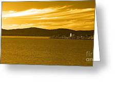 Hudson River Lighthouse Greeting Card