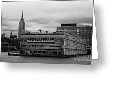 Hudson River Marine Aviation Pier 57 New York City Greeting Card