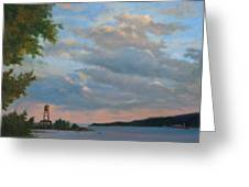 Hudson River Skyscape  Greeting Card