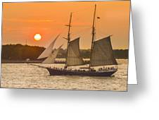 Hudson River Tall Ship In Manhattan New York - New York Greeting Card