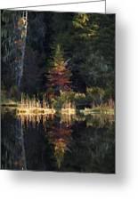 Huff Lake Reflection Greeting Card