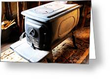 Huge Antique Wood Stove Greeting Card