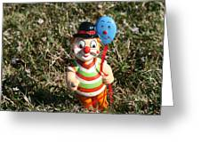 Hugo The Happy Clown Greeting Card
