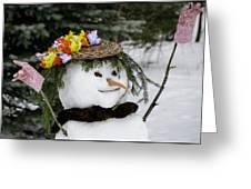 Hula Snowlady Greeting Card