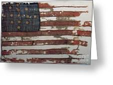 Hulbert Flag Early Us Flag 1776 Greeting Card by Photo Researchers