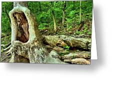 Human Eating Tree Greeting Card