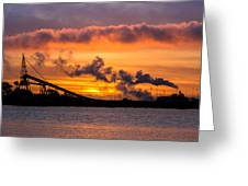 Humboldt Bay Industry At Sunset Greeting Card