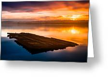 Humboldt Bay Spring Sunrise Greeting Card
