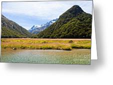Humboldt Mountains Seen From Routeburn Track Nz Greeting Card