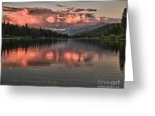 Hume Lake Sunset Greeting Card