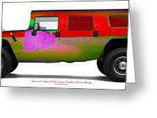 Hummer H1 Alpha Frenchman Flat Bombedbridge Greeting Card