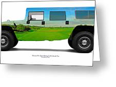 Hummer H1 Alpha Stirling Golf Club 6th Tee Greeting Card