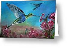 Hummers For A Friend Greeting Card