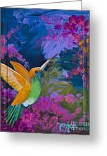 Hummers Paradise Greeting Card