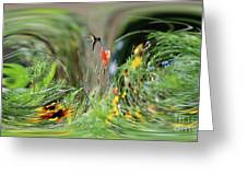Humming Bird Digital Art Greeting Card