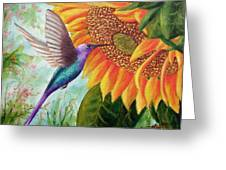 Humming For Nectar Greeting Card
