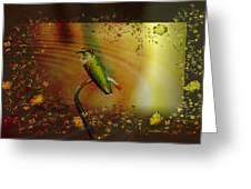 Hummingbird At The Pond Greeting Card