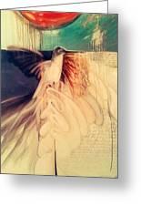 Hummingbird Greeting Card by Riek  Jonker