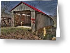 Artistic Humpback Covered Bridge Greeting Card