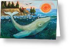 Humpback Whales In Santa Cruz Greeting Card