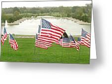 Hundreds Of American Flags September 11 Memorial In Saint Louis Missouri Greeting Card