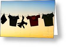 Hung Out To Dry Greeting Card by Tim Gainey
