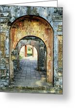 Hung Temple Arches Greeting Card