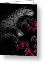 Hunger - Dark And Blood Red Fractal Art Greeting Card