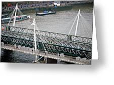 Hungerford Bridge Greeting Card