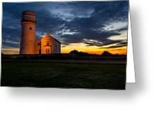 Hunstanton Lighthouse Greeting Card by Andrew Lalchan