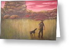 Hunter And Pointer Greeting Card