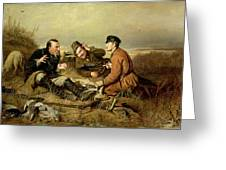 Hunters, 1816 Greeting Card