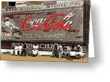 Hunter's Drug Store Coca-cola Mural Greensboro Georgia Marion Post Wolcott Fsa Spring 1939-2014  Greeting Card